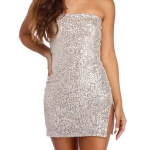 SHINING IN SEQUINS MINI DRESS NEW YEARS
